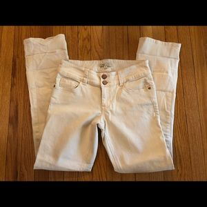 Cabi Jeans Light Yellow Double Button Size 6